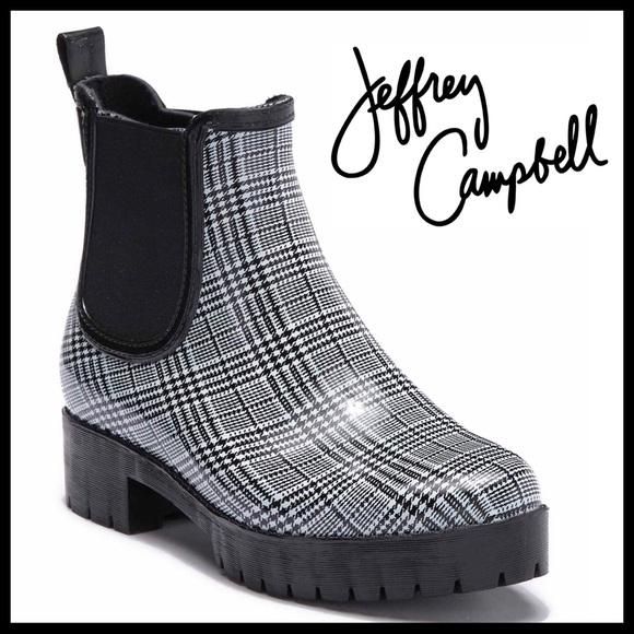 033ce9e3d1a JEFFREY CAMPBELL BLACK RAIN ANKLE BOOTS BOOTIE A2C NWT